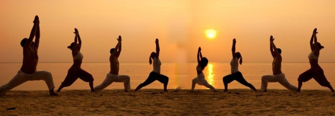 group-beach-yoga